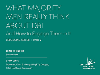 recent research, cover of What Majority Men Really Think About D&I