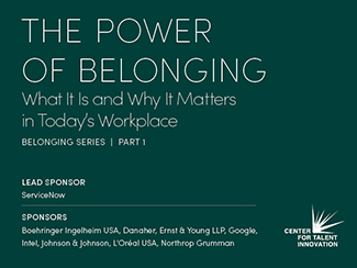recent research, cover of The Power of Belonging